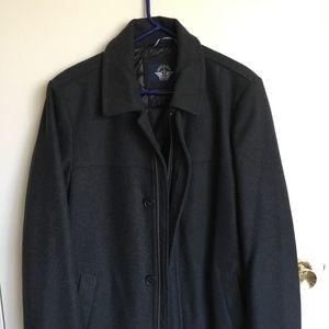 Dockers Charcoal Wool Coat